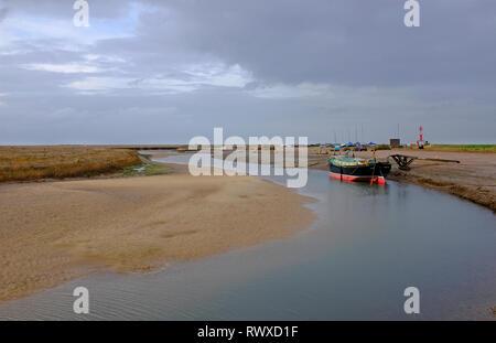 Blakeney Harbour, al norte de Norfolk, Inglaterra Imagen De Stock