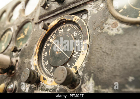 Antigua marca de cabina de un avión de la Segunda Guerra Mundial Imagen De Stock