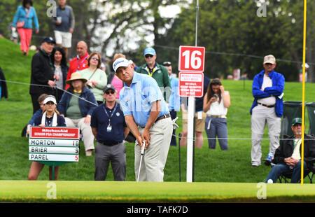 Rochester, NY, EE.UU. El 24 de mayo, 2018. Scott Parel durante la segunda ronda de juego en el 2019 KitchenAid Senior PGA Championship en Oak Hill East golf course en Oak Hill Country Club en Rochester, NY. foto por Alan Schwartz/Cal Sport Media/Alamy Live News Imagen De Stock