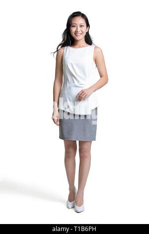Retrato de la hermosa joven empresaria Imagen De Stock