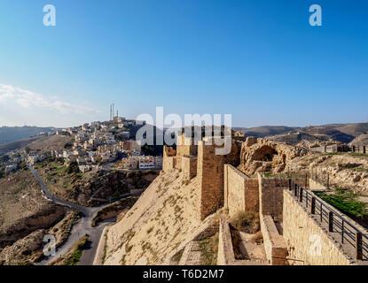 El castillo de Kerak, Gobernación de Al-Karak, Karak, Jordania Imagen De Stock