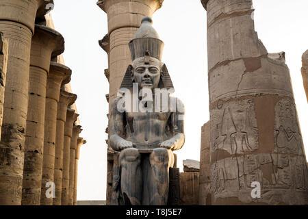 Estatua de Ramsés II, el Templo de Luxor, Luxor, Egipto Imagen De Stock