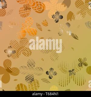 Patrón floral abstracto de color naranja y marrón tinte. Ideal para textiles, embalajes, papel de impresión, fondos y texturas simples. Imagen De Stock