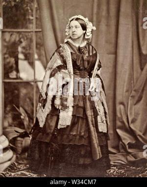 La reina Victoria (1819-1901) el monarca británico en 1860 Imagen De Stock