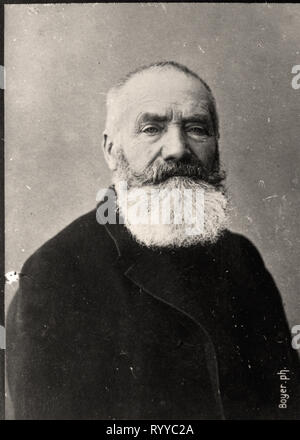 Retrato fotográfico de Yvon de colección Félix Potin, de principios del siglo XX. Imagen De Stock