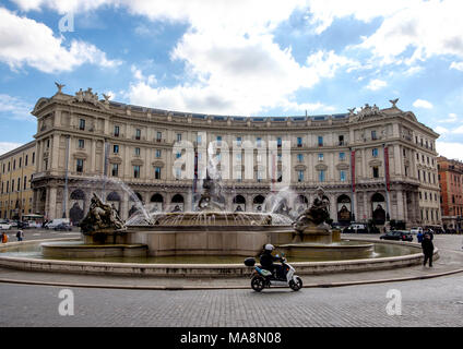 Piazza della Republica, Roma Imagen De Stock