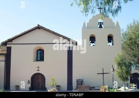 Santa Ynes Misión, Santa Ynez, CA. Fotografía Digital. Imagen De Stock