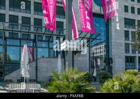STUTTGART, Alemania - 30 de septiembre de 2018:La foto te muestra la plaza bursátil de Stuttgart. Imagen De Stock