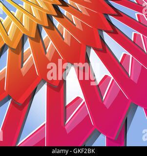 Fondo de colores abstractos. Patrón de diseño moderno. Rojo, amarillo, rosado, morado, línea brillante Imagen De Stock