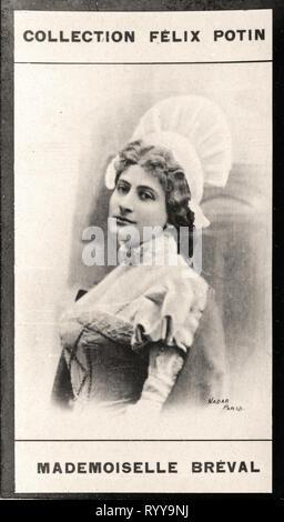 Retrato fotográfico de Brval Colección de Félix Potin, de principios del siglo XX. Imagen De Stock