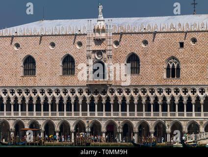 El Palacio Ducal, la región del Veneto, Venecia, Italia Imagen De Stock