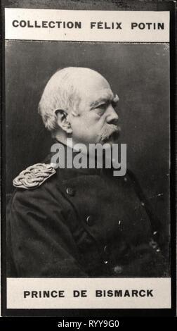 Retrato fotográfico de Bismarck de la colección Félix Potin, de principios del siglo XX. Imagen De Stock
