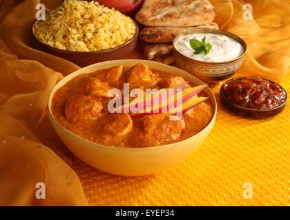Comida hindú pollo al curry de mango Imagen De Stock