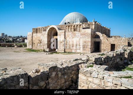 Palacio omeya en el Citadel Hill, Ammán, Jordania Imagen De Stock
