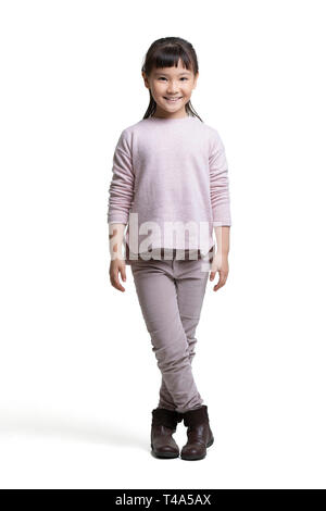 Retrato de niña feliz Imagen De Stock