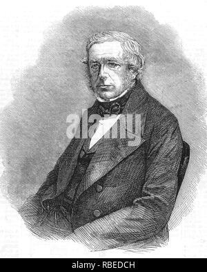 JOHN HENSLOW (1796-1861) sacerdote inglés, botánico y geólogo. Mentor de Charles Darwin. Imagen De Stock