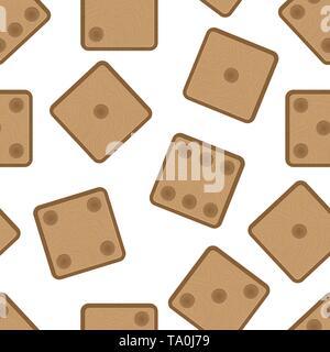 Patrón sin fisuras con textura de madera cubos. Diseño de fondos, fondos de pantalla, tapas, envases y material. Imagen De Stock