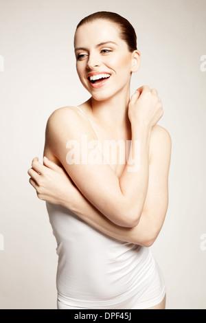 Retrato de mujer joven modelo Imagen De Stock