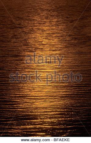 Sol reflejado en el océano (antena), Big Sur, California Imagen De Stock