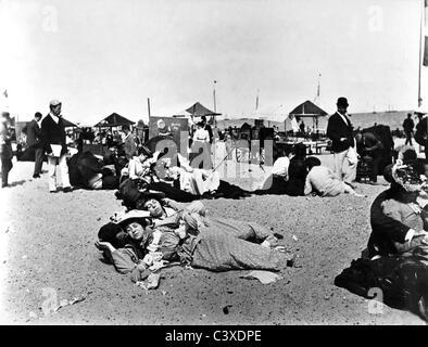 Yarmouth Sands, foto Paul Martin.Arenas Yarmouth, Inglaterra, a finales del siglo XIX. Imagen De Stock