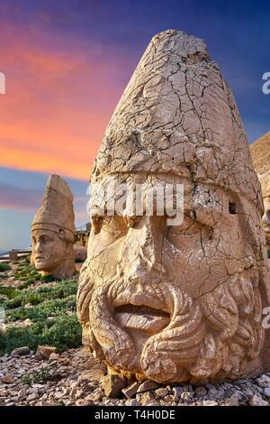 Cabeza de Zeus, el Monte Nemrut National Park, Turquía Imagen De Stock
