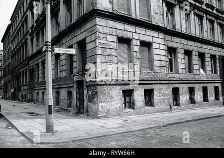 Calles de Prenzlauer Berg, East-Berlin. 1982 Imagen De Stock