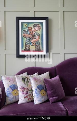 Interior de Machrie Golf Links Hotel en Islay. En el interior de islas Hébridas, Escocia, Reino Unido Imagen De Stock