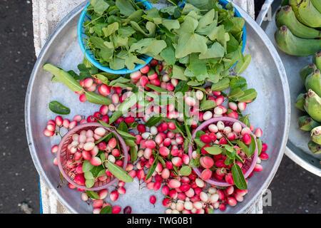 Vista aérea de fruta fresca, verduras y especias, Tailandia Imagen De Stock