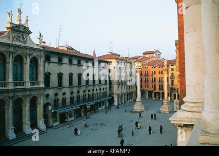 Veneto vicenza Piazza dei Signori Imagen De Stock