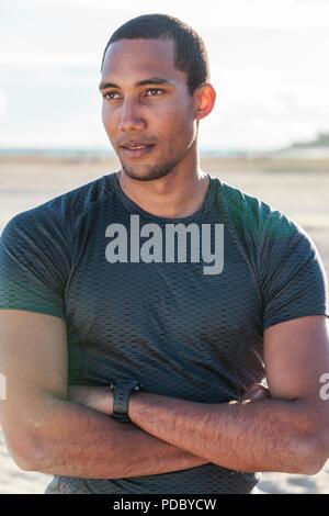 Retrato confiada, colocar hombres runner Imagen De Stock
