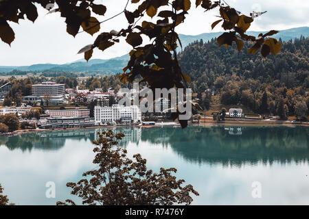 Visión de la ciudad lacustre, Francenigo, Veneto, Italia Imagen De Stock