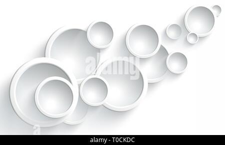 Diseño gráfico de ronda, convexas, lentes de cristal sobre un fondo blanco. Diseño original del ornamento Imagen De Stock