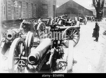 9 1917 11 20 A2 5 cañones capturados E Guerra Mundial 1917 1 1914 18 frente occidental batalla de tanques en Imagen De Stock