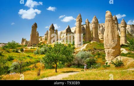 El Parque Nacional de Goreme, Capadocia, Turquía Imagen De Stock