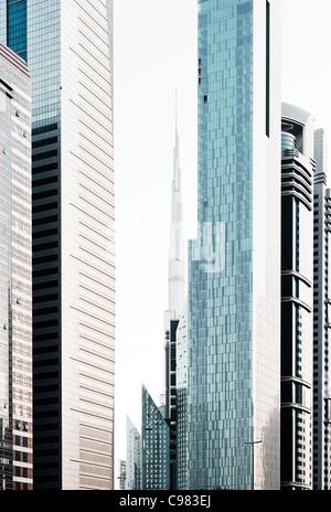 Impresiones de Sheikh Zayed Road, al Satwa, Dubai, Emiratos Árabes Unidos, Oriente Medio Imagen De Stock