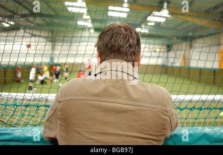 Fotografía de football manager scout cinco un lado coach trainer Imagen De Stock