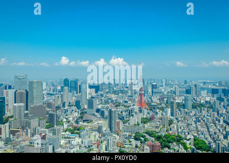 Paisaje visto desde Roppongi Hills Mori Tower, en Tokio, Japón. Imagen De Stock