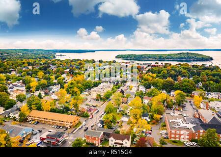 Vista aérea de Bar Harbor, Maine Imagen De Stock
