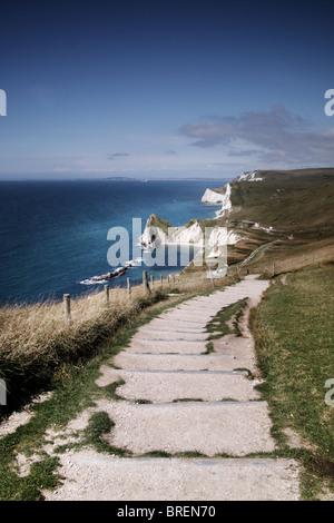 La costa de Dorset, Inglaterra,Reino Unido Imagen De Stock