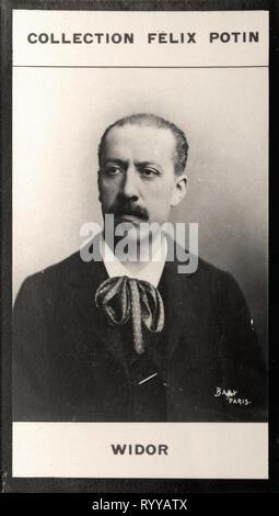 Retrato fotográfico de Widor, desde la colección Félix Potin, de principios del siglo XX. Imagen De Stock