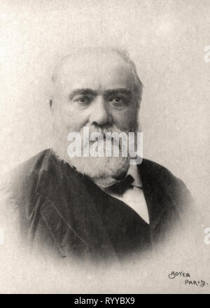 Retrato fotográfico de Sarcey Colección de Félix Potin, de principios del siglo XX. Imagen De Stock