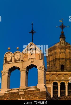 Iglesia vieja, región del Veneto, Venecia, Italia Imagen De Stock