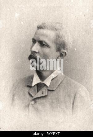 Retrato fotográfico de Stanley desde la colección Félix Potin, de principios del siglo XX. Imagen De Stock