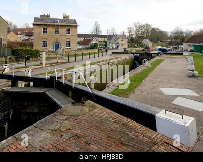 Kennet y Avon canal en Bradford On Avon Imagen De Stock