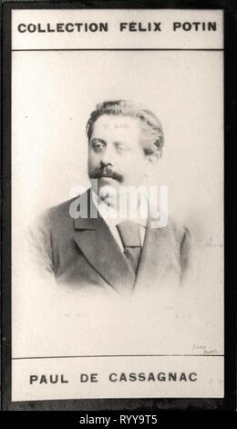 Retrato fotográfico de Cassagnac Colección de Félix Potin, de principios del siglo XX. Imagen De Stock