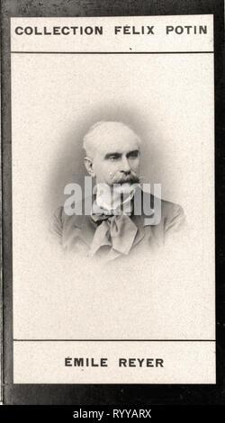 Retrato fotográfico de Reyer de colección Félix Potin, de principios del siglo XX. Imagen De Stock
