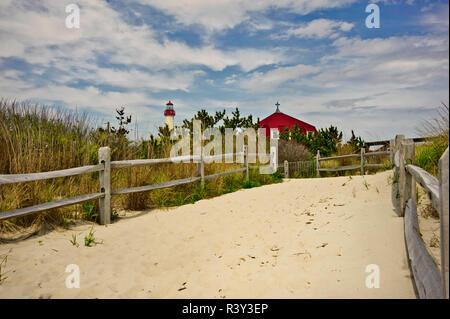 Cape May, Nueva Jersey, EE.UU., playa, ruta Imagen De Stock