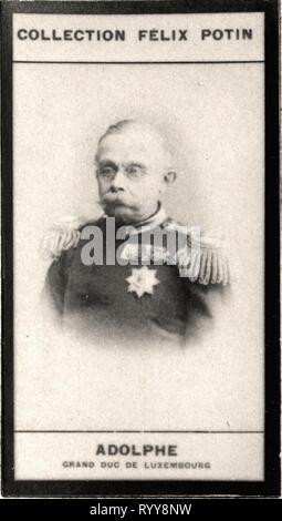 Retrato fotográfico de Adolphe Grand Duc de Luxemburgo desde la colección Félix Potin, de principios del siglo XX. Imagen De Stock