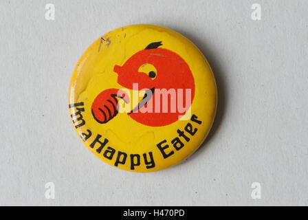Soy un feliz Eater pin botón insignia HOMER SYKES Imagen De Stock