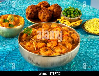INDIAN MALABAR/gambas camarones al curry de mariscos Imagen De Stock